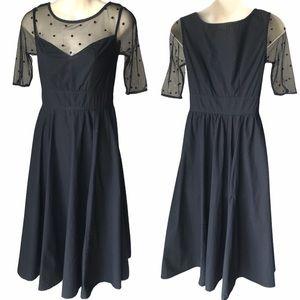 eShakti Custom Black Retro Dress - XS